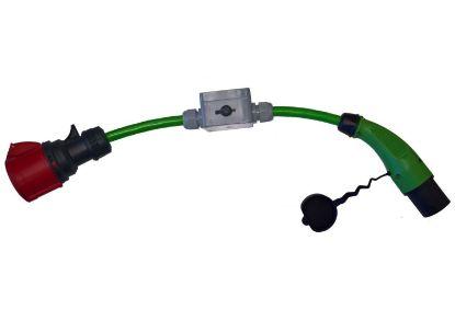 Bild von Adapter Typ 2 (Infrastruktur) auf CEE 32-5  mit Unterbrecher