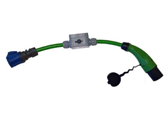 Bild von Adapter Typ 2 (Infrastruktur) auf CEE 16-3 mit Unterbrecher