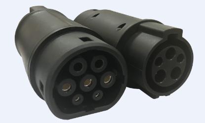 Bild von Adapter Typ 1 auf Typ 2 (32A/230V) - Gussstück